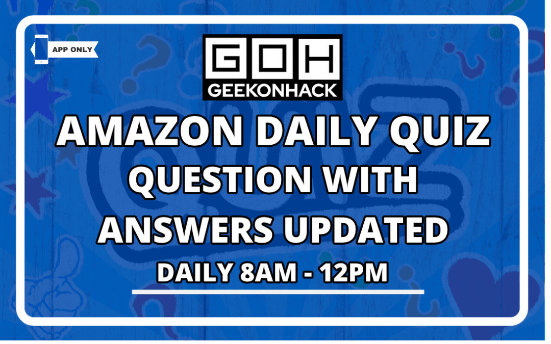 Amazon Quiz Answer today